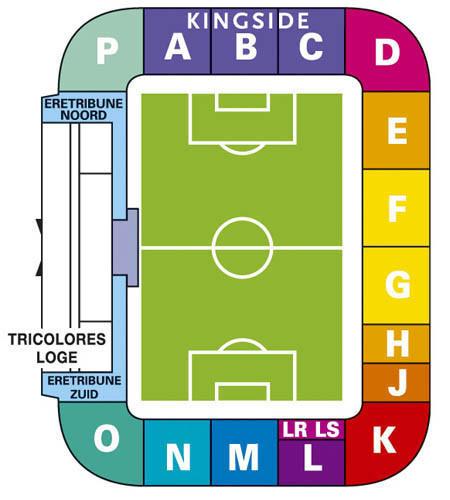 Koning Willem II Stadion plattegrond